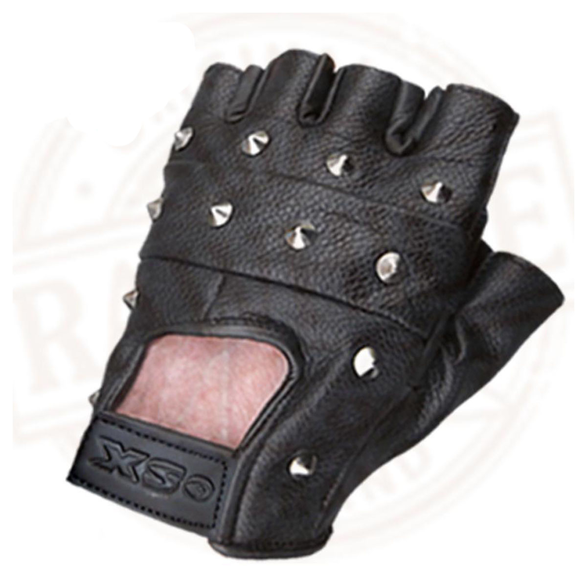 Dam Leather Weight Lifting Gym Gloves Real Leather Women S: LEATHER FINGERLESS GLOVES BIKER DRIVING CYCLING WHEELCHAIR