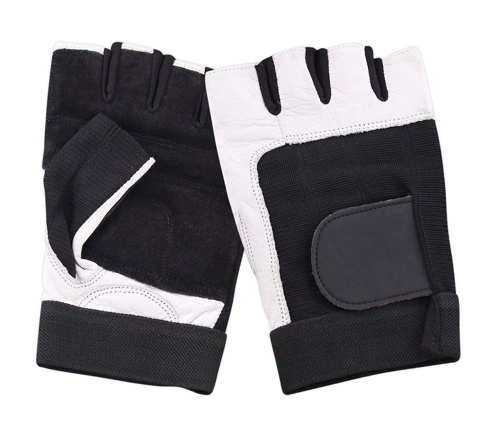 Weight Lifting Gloves Xxl: LEATHER PADDED FINGERLESS GLOVES DRIVING CYCLING GYM BIKER