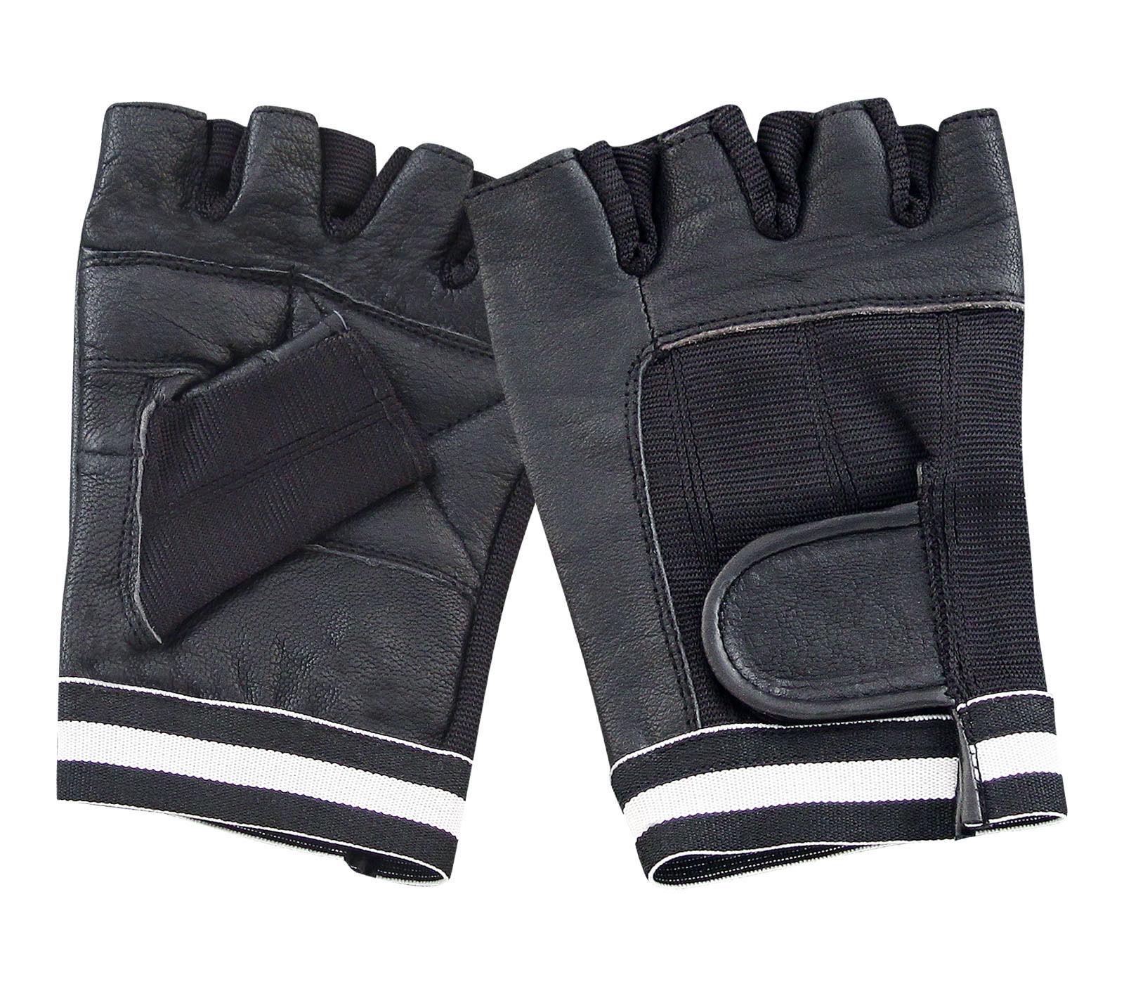 Dam Leather Weight Lifting Gym Gloves Real Leather Women S: LEATHER FINGERLESS GLOVES BIKE DRIVING CYCLING WHEELCHAIR