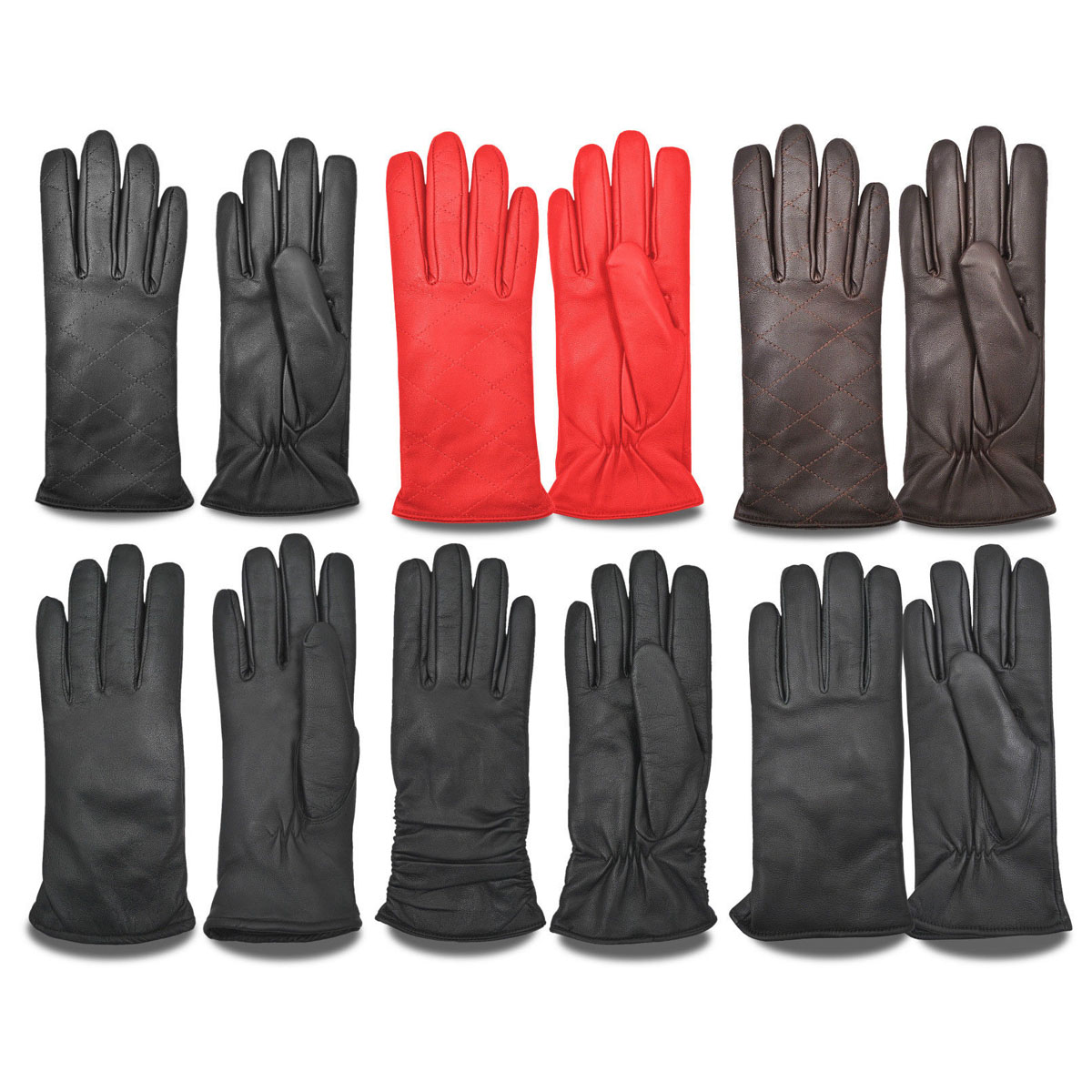 Dam Leather Weight Lifting Gym Gloves Real Leather Women S: WOMEN'S LEATHER WINTER DRIVING GLOVES CHAUFFEUR CAR BIKE