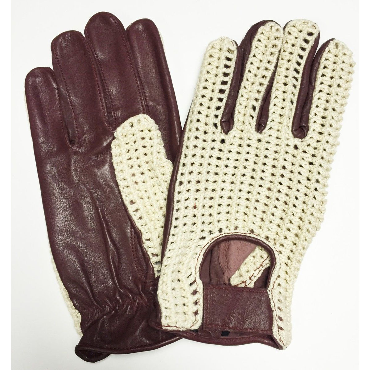 Dam Leather Weight Lifting Gym Gloves Real Leather Women S: LEATHER DRIVING SLIM FIT GLOVES CHAUFFEUR BIKER BUS