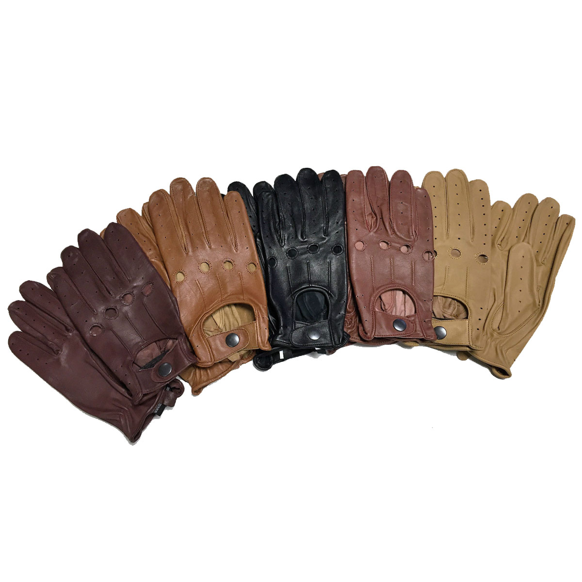 Dam Leather Weight Lifting Gym Gloves Real Leather Women S: GENUINE LAMSBSKIN SOFT LEATHER SKIN FIT DRIVING GLOVES
