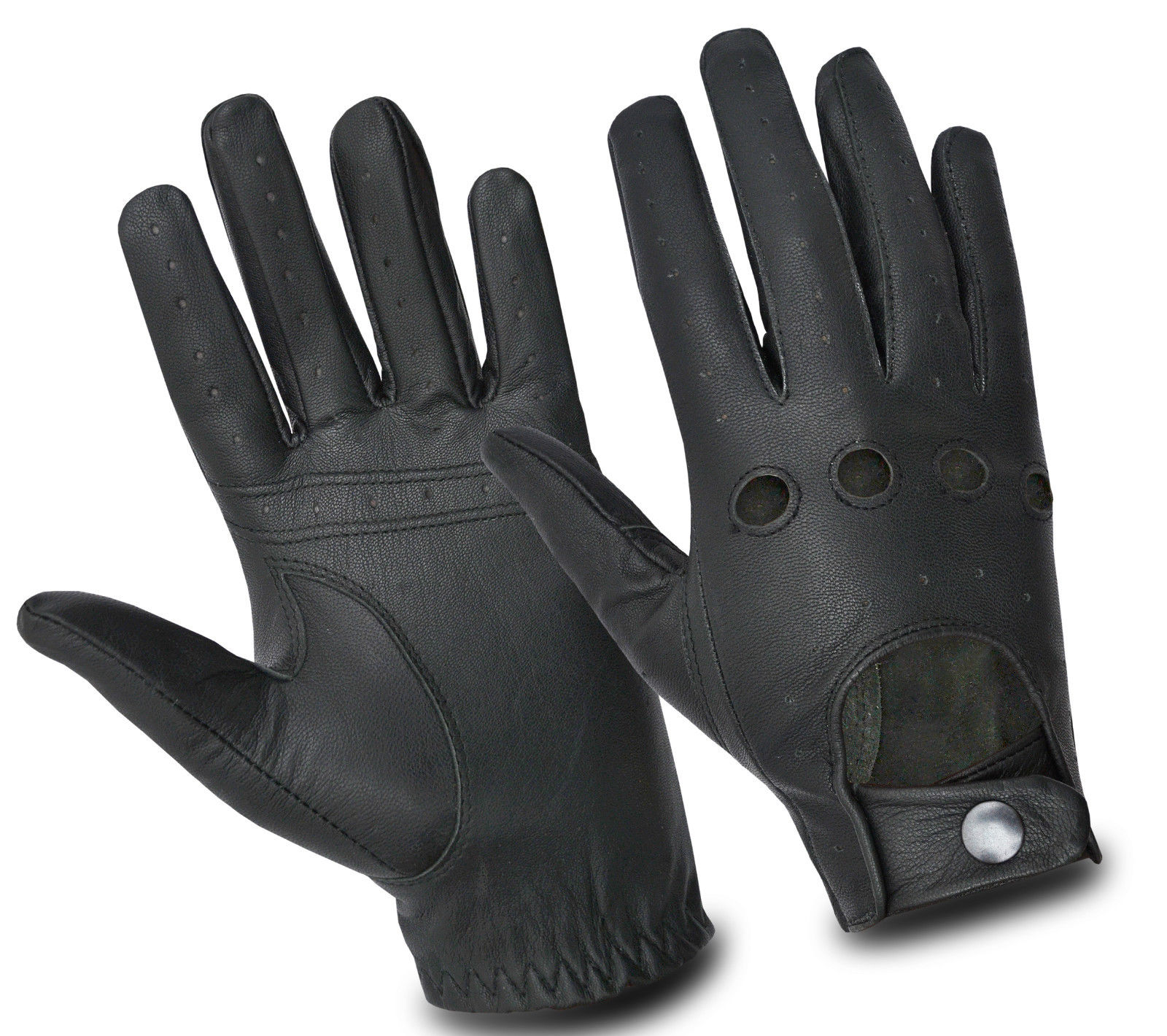 Dam Leather Weight Lifting Gym Gloves Real Leather Women S: LEATHER DRIVING CHAUFFEUR LUXURY GLOVES BIKER WHEELCHAIR